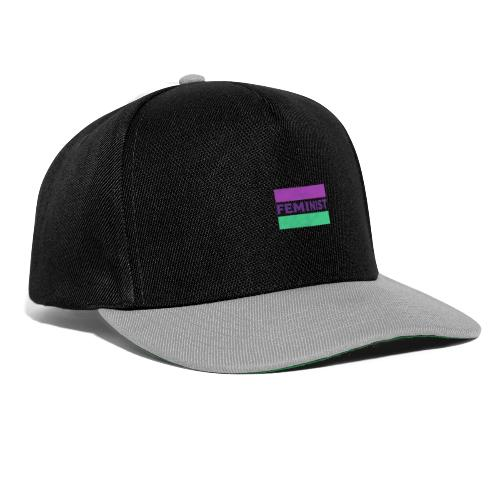 colorful t shirt maker with a feminist - Gorra Snapback