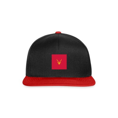 scimmiacervo sfondo rosso - Snapback Cap