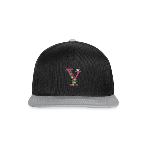 Letter Y with cat and flowers - Snapback Cap