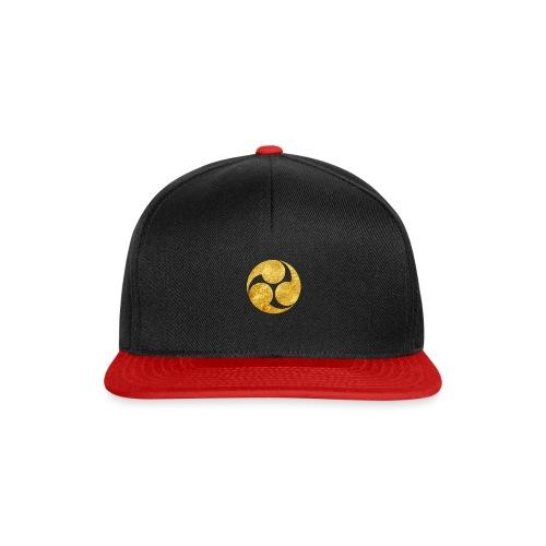 Kobayakawa Mon Japanese clan gold on black - Snapback Cap