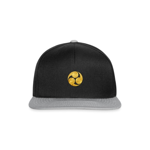 Kobayakawa Mon Japanese clan gold on black - Snapback Cap
