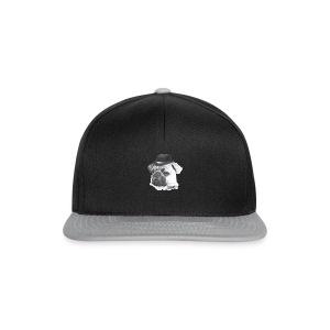 pug with bowler - Snapback Cap