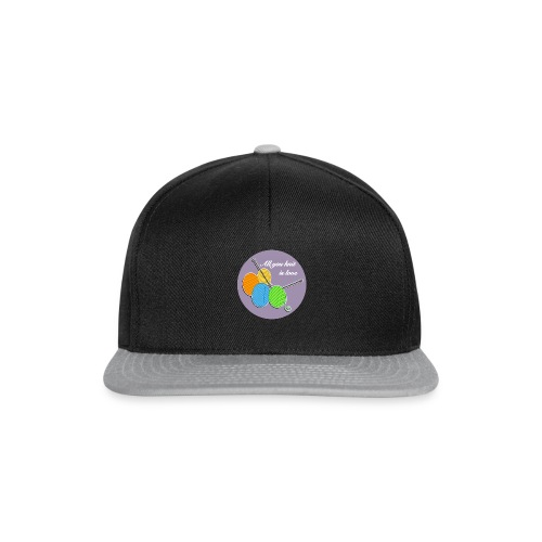 All you knit is love - Snapback Cap