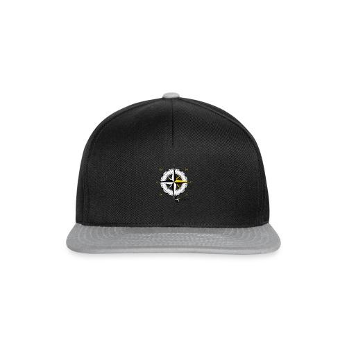 compass_logo_gold - Snapback Cap
