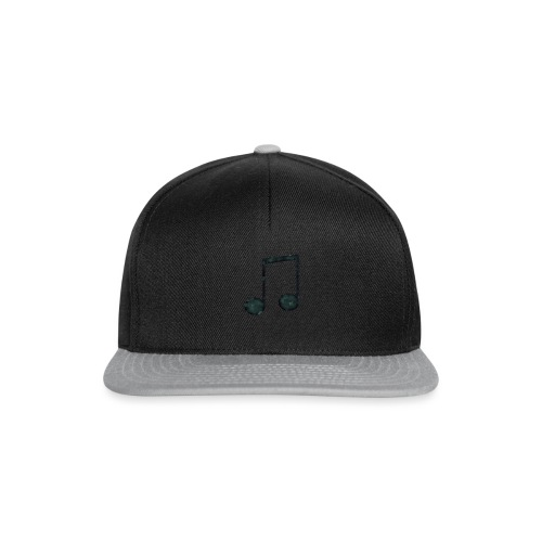 Low Poly Geometric Music Note - Snapback Cap