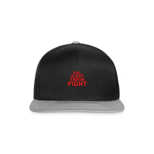 Eat sleep train fight - Snapback Cap