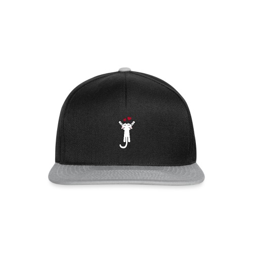 Kitty hanging love - Snapback Cap
