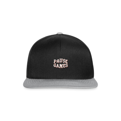 Pause Games Text - Snapback Cap