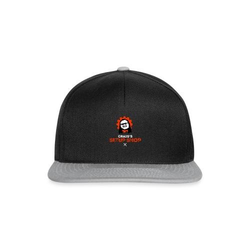 Craigs Setup Shop on black - Snapback Cap