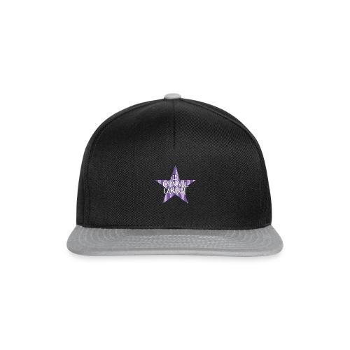 bonnet LCC noir etoie violette - Snapback Cap