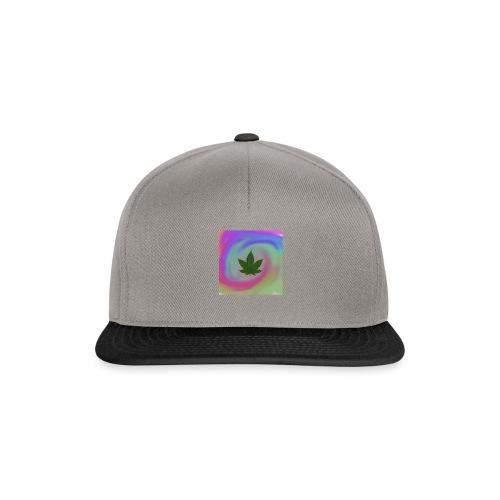 Hanfblatt auf bunten Hintergrund - Snapback Cap