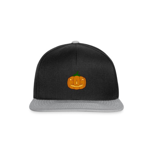 Halloween Kürbis mit Gruselgesicht - Snapback Cap