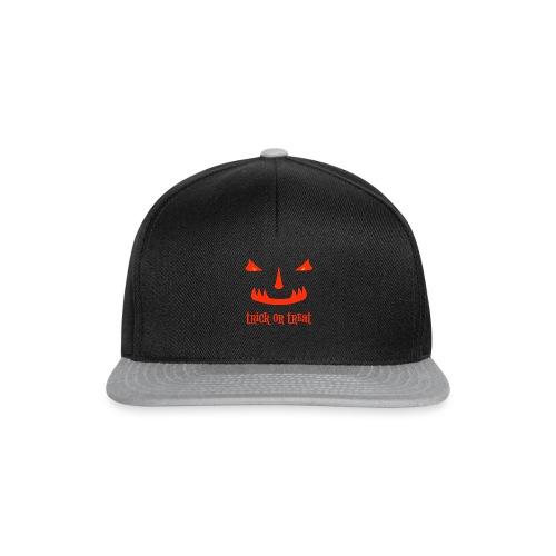 Halloween trick or treat und gruseliges Gesicht - Snapback Cap