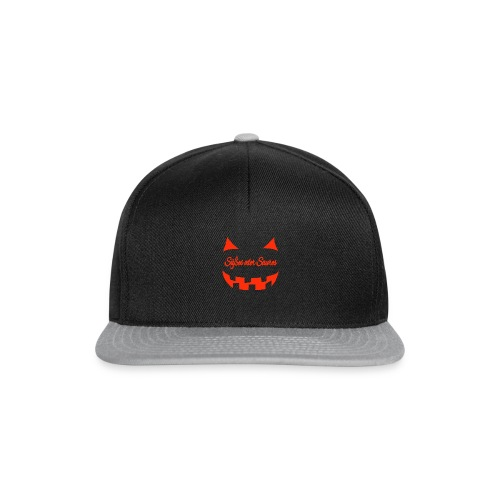 Halloween Süßes oder Saures mit Gruselgesicht - Snapback Cap