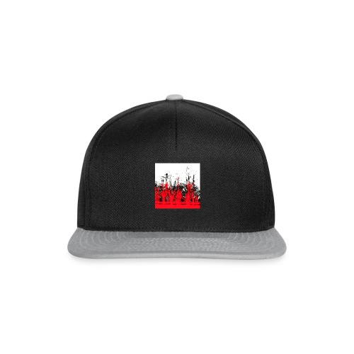 rot - schwarz - Snapback Cap