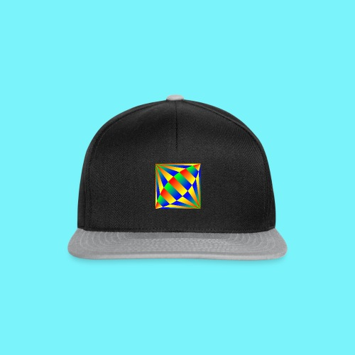 Giant cufflink design in blue, green, red, yellow. - Snapback Cap