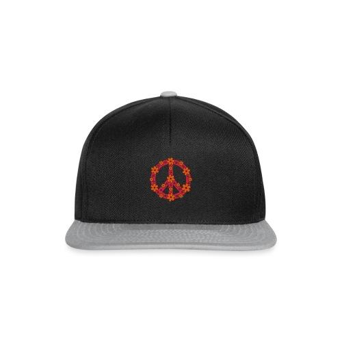 Peace Frieden Symbol Hippie Sommer Freiheit Liebe - Snapback Cap