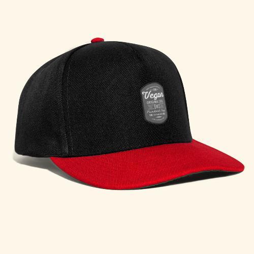 Vegan - The Original Cool Vintage Design - Snapback Cap