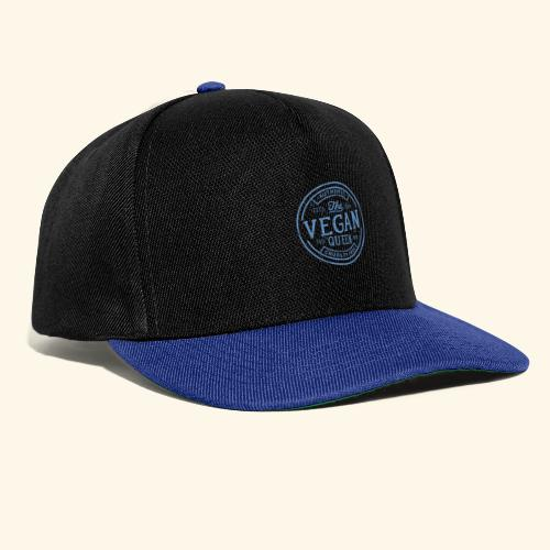 The Vegan Queen - Vintage Stamp Logo - Snapback Cap