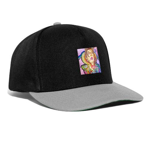 colorful weird girl - Casquette snapback