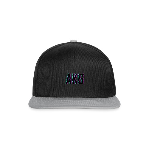 AKG Schwarz Glitched - Snapback Cap