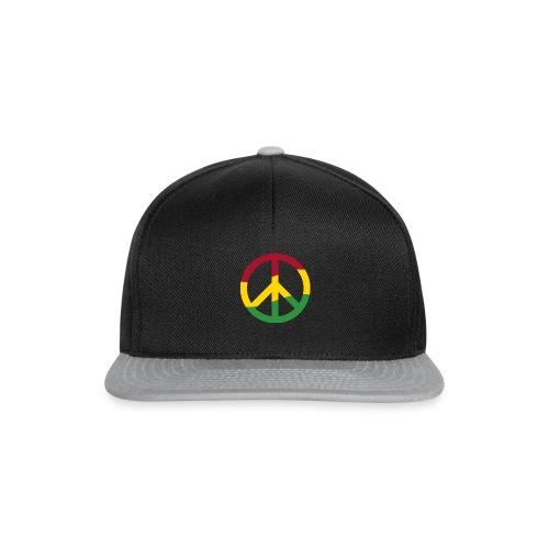 Peacezeichen Rastafari Reggae Musik Frieden Pace - Snapback Cap