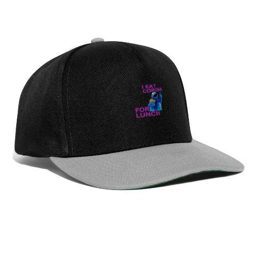 I eat corona for lunch - coronavirus shirt - Snapback cap