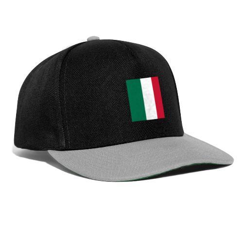 italy square flag - Snapback Cap