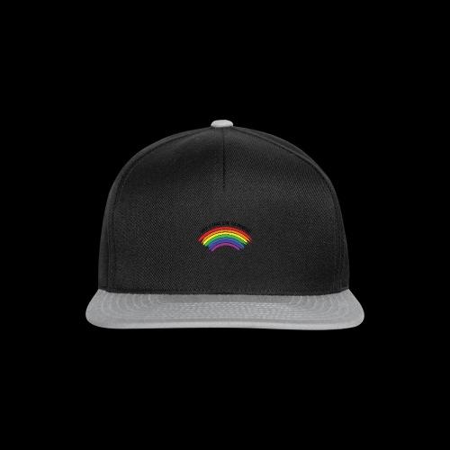When it rains, look for rainbows! - Colorful Desig - Snapback Cap