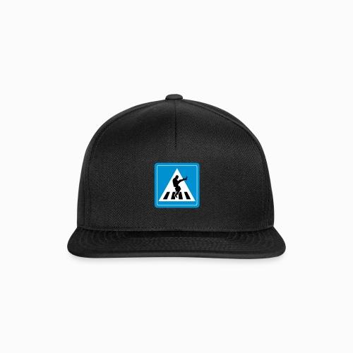 Silly walk zebrapad verkeersbord Zierikzee Zeeland - Snapback cap