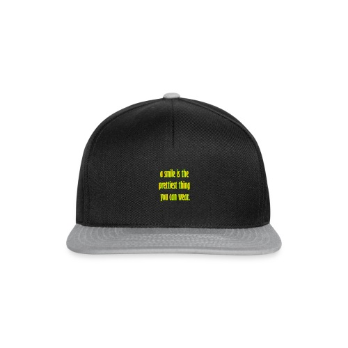 A smile is the prettiest thing you can wear. - Snapback Cap