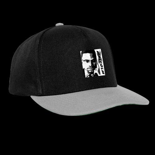 Malcom X Black and White - Snapback Cap