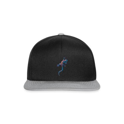 Echse in Blau - Snapback Cap