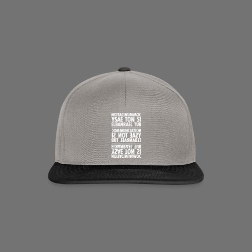 viestintä valkoinen sixnineline - Snapback Cap