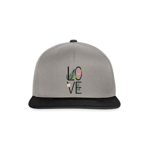Love Sign with flowers - Snapback Cap