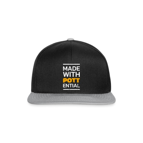 Made-with-Pottential Hochformat - Snapback Cap