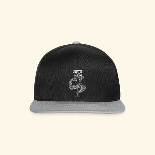 LANDFALL FLORA NEGRA BW - Snapback Cap