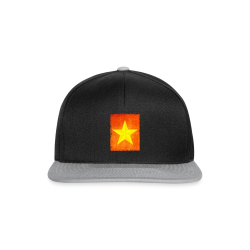 yellow amish barn star t-shirt design gift idea - Snapback Cap