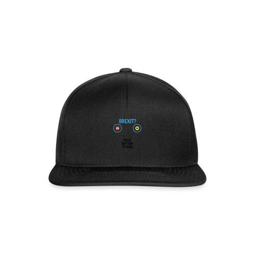 Brexit: Press Button To Vote - Snapback Cap