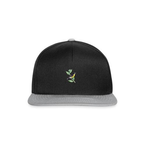 bird yellow-black - Snapback Cap