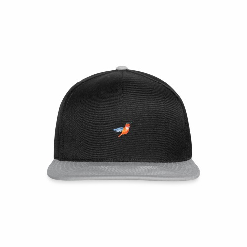 ORANGE BLUE HUMMING BIRD HUMMINGBIRD DESIGN - Snapback Cap