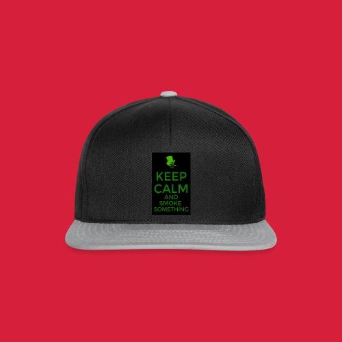 smoke something shirt - Snapback cap