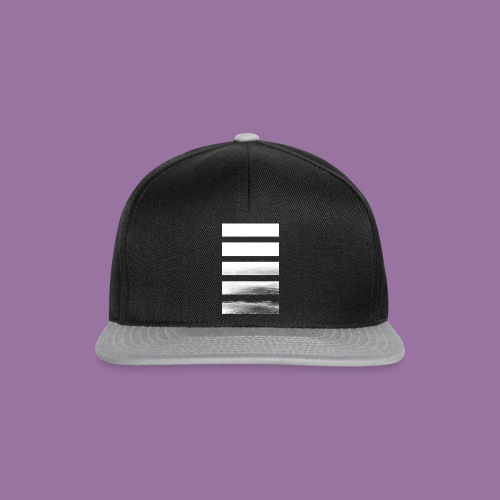 Stripes Horizontal White - Snapback Cap