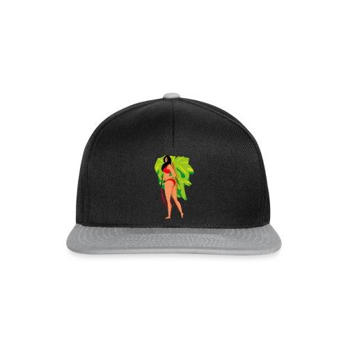 Frau mit Gleitschirm - Snapback Cap