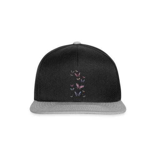 Tattoo de mariposas lilas y rosas - Gorra Snapback
