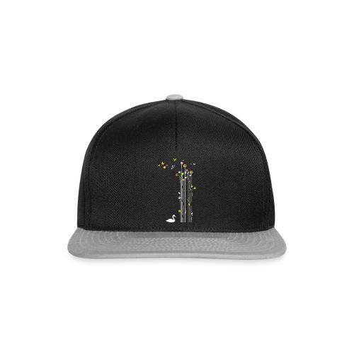 Frühling Schwan Blüten Schmetterlinge Valentinstag - Snapback Cap