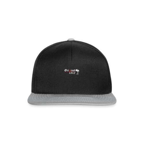 1312 logo white - Snapback Cap