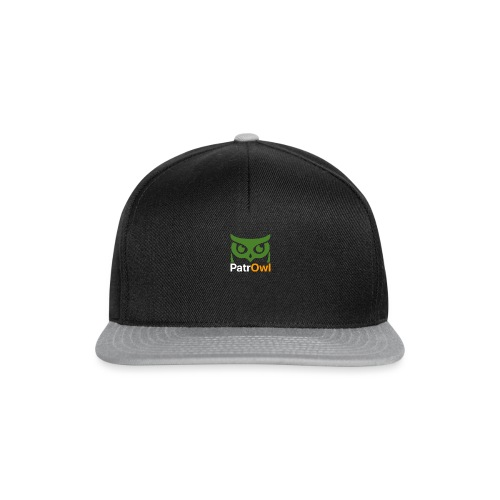 logo owl text large white - Casquette snapback
