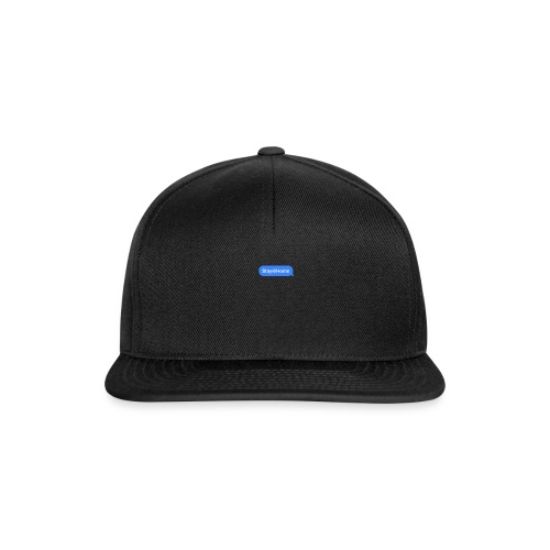stayhome text - Snapback Cap
