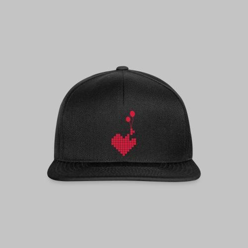 heart and balloons - Snapback Cap